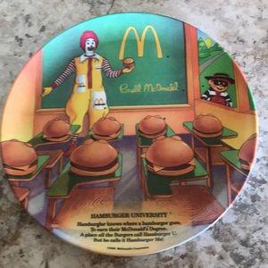 """9"""" Ronald McDonald plate"""